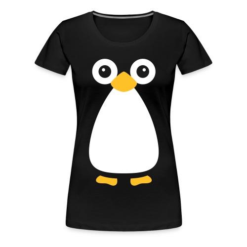 Cute Vector Penguin Women's T-Shirt - Women's Premium T-Shirt