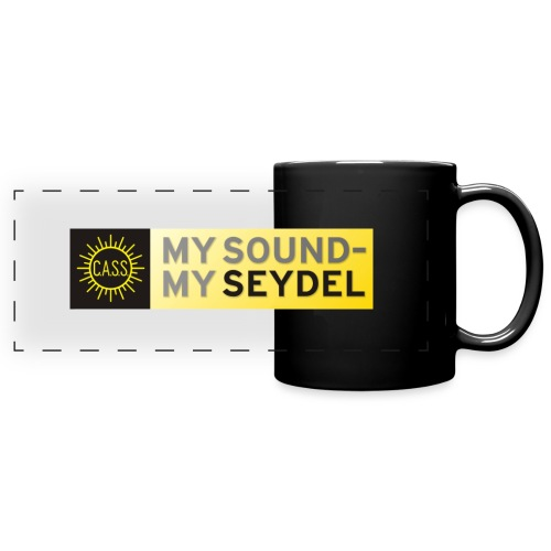Coffee cup with MY SOUND MY SEYDEL Logo - Full Color Panoramic Mug