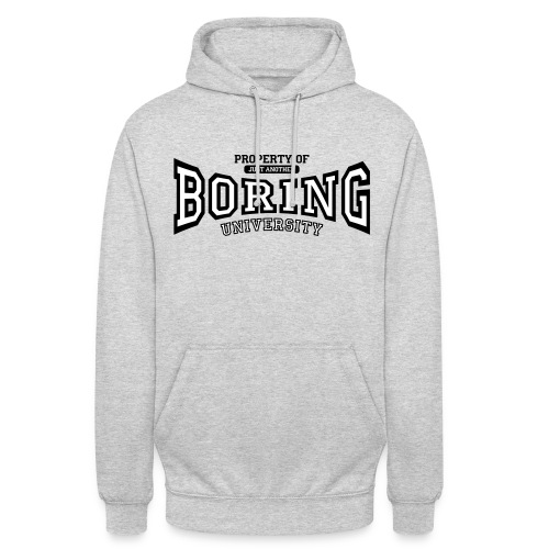 Property of just another boring university (red) - Unisex Hoodie