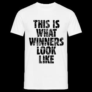 Winner T-Shirt (Vintage/Schwarz) - Männer T-Shirt