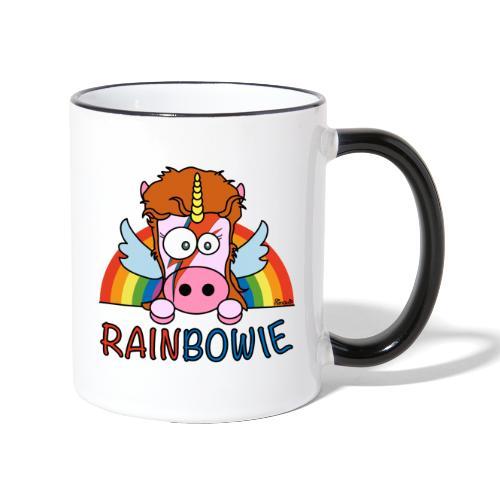 Tasse bicolore Unicorn, Licorne RainBow-ie - Mug contrasté