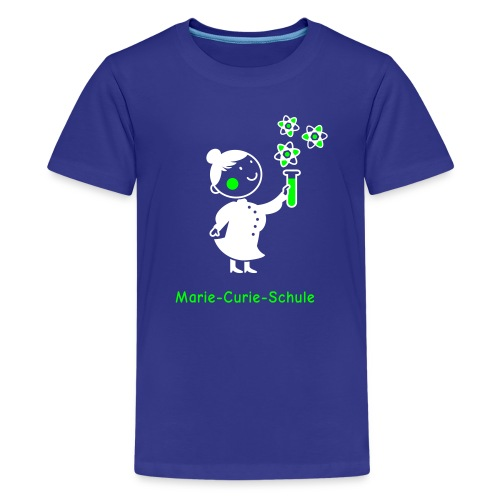 Teenager Premium T-Shirt Marie-Curie-Schule (blau) - Teenager Premium T-Shirt