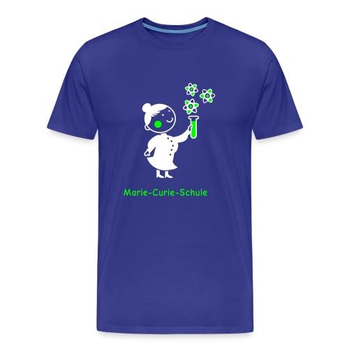 Männer Premium T-Shirt Marie-Curie-Schule (blau) - Männer Premium T-Shirt