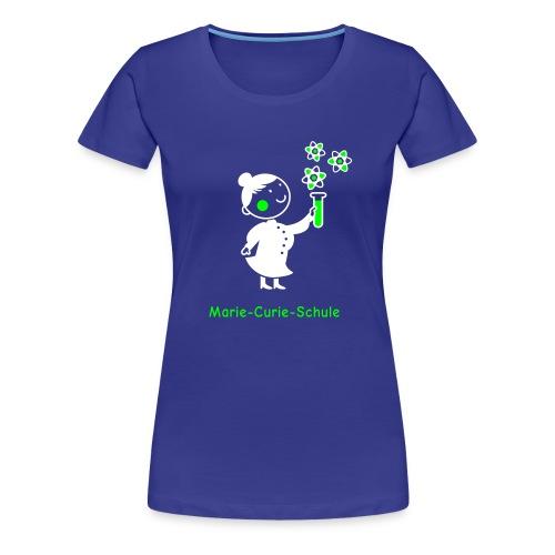 Frauen Premium T-Shirt Marie-Curie-Schule (blau) - Frauen Premium T-Shirt