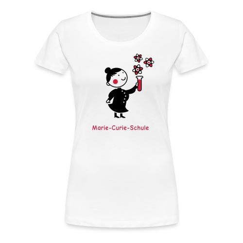 Frauen Premium T-Shirt Marie-Curie-Schule (weiß) - Frauen Premium T-Shirt