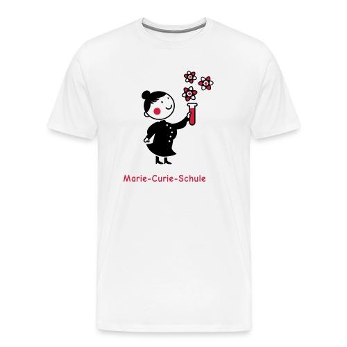 Männer Premium T-Shirt Marie-Curie-Schule (weiß) - Männer Premium T-Shirt