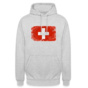 Switzerland Flag  - Vintage Look Pullover & Hoodies - Unisex Hoodie