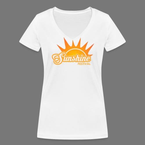 Sunshine Festival T-Shirt - Frauen Bio-T-Shirt mit V-Ausschnitt von Stanley & Stella