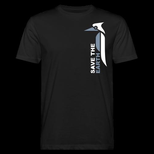Ökoshirt - Safe the earth silver/white - Männer Bio-T-Shirt