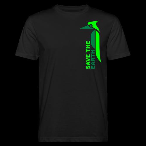 Ökoshirt - Safe the earth green - Männer Bio-T-Shirt