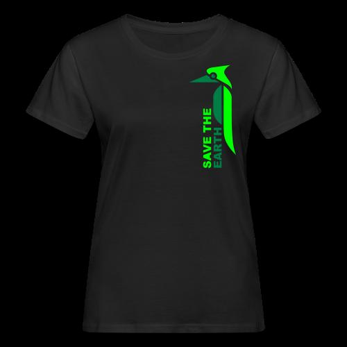 Ökoladyshirt - Safe the earth green - Frauen Bio-T-Shirt