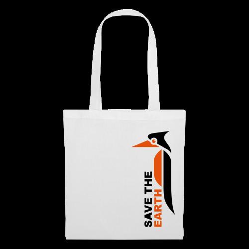Stoffbeutel - Save the earth orange - Stoffbeutel