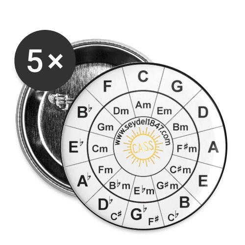 SEYDEL circle of fifth badge - Buttons large 2.2''/56 mm(5-pack)