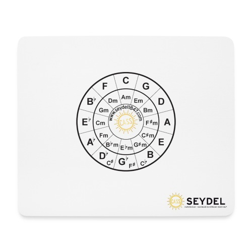 SEYDEL mousepad with circle of fifth - Mouse Pad (horizontal)