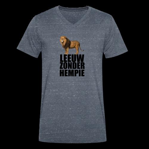 Oranje Leeuw zonder hempie! - Mannen bio T-shirt met V-hals van Stanley & Stella