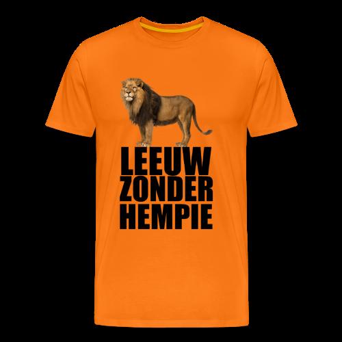Oranje Leeuw zonder hempie! - Mannen Premium T-shirt