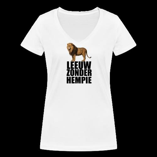 Oranje Leeuw zonder hempie! - Vrouwen bio T-shirt met V-hals van Stanley & Stella