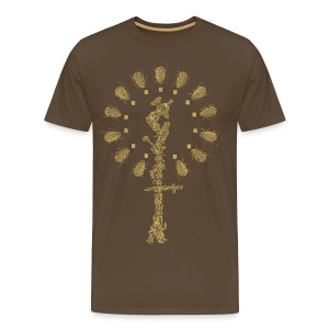 Larman Clamor - Beetle Crown & Steel Wand (dark design) - Men's Premium T-Shirt