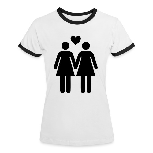 T-SHIRT LOVE WOMEN - T-shirt contrasté Femme