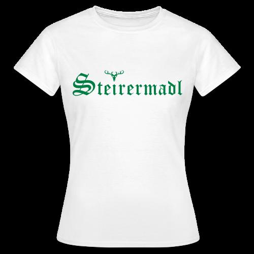Steirermadl mit Hirsch - Frauen T-Shirt
