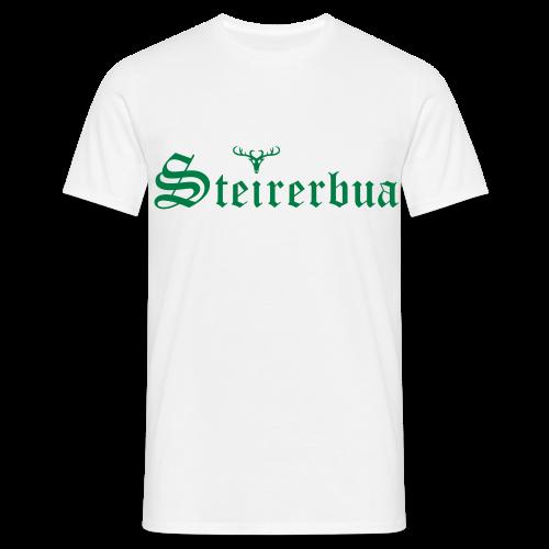 Steirerbua mit Hirsch - Männer T-Shirt