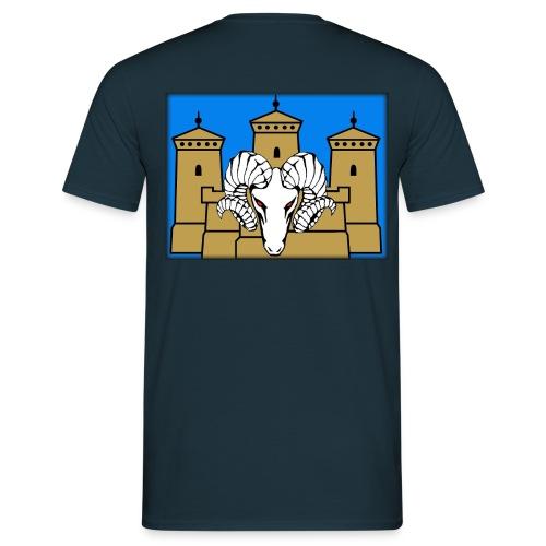 Selkäpainatus premiun aatu - Miesten t-paita