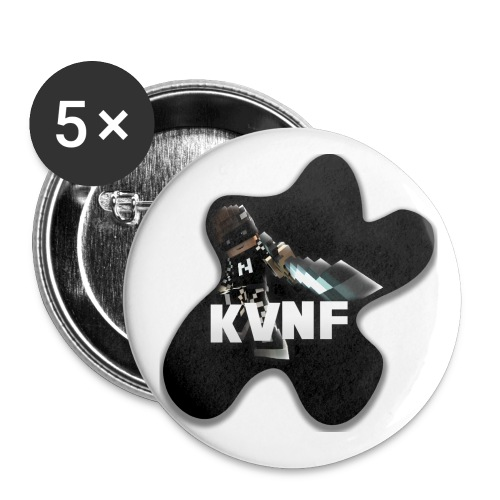 KvnF Buttons - Buttons klein 25 mm (5er Pack)