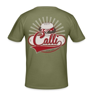 Calli-Burger - Herren-Shirt - khaki - Männer Slim Fit T-Shirt