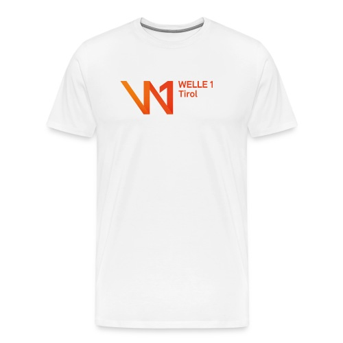 WELLE1 Herren T-Shirt weiß - Männer Premium T-Shirt