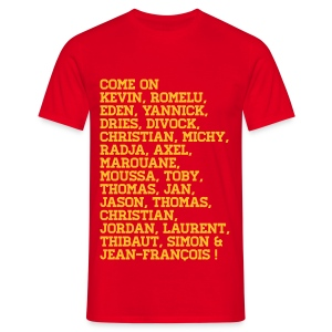 Support the Belgian Team! - Mannen T-shirt