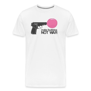 Make bubbles not war - Men's Premium T-Shirt