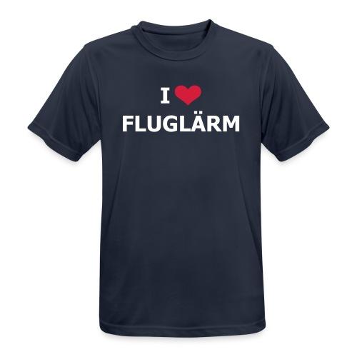 FSC I Love Flugflärm Shirt akmungsaktiv - Männer T-Shirt atmungsaktiv