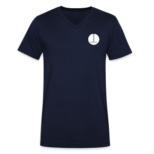 Low Tone Navy Vee - Men's Organic V-Neck T-Shirt by Stanley & Stella