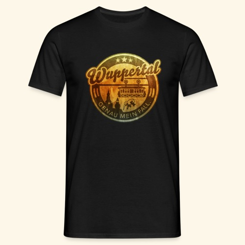 spassprediger.de presents: Wuppertal, distressed - Männer T-Shirt