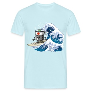 Sushi surfing waves - Men's T-Shirt