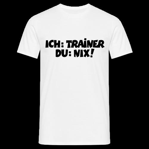 Trainer T-Shirt (Schwarz) - Männer T-Shirt