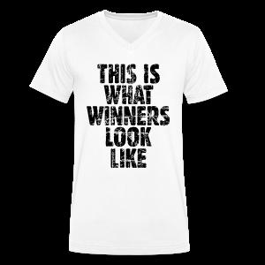 Winner V-Neck (Vintage/Schwarz) - Männer Bio-T-Shirt mit V-Ausschnitt von Stanley & Stella