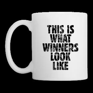 Winner Tasse (Vintage/Schwarz) - Tasse