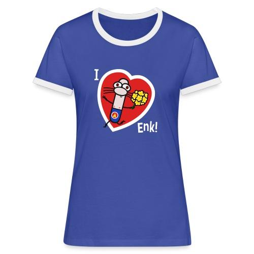 I Love Enk! Women's T-Shirt - Women's Ringer T-Shirt