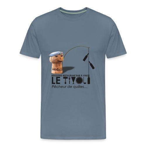 Tivoli-T-Shirt Homme 1 Logo Tivoli Pêcheur de quilles avant - T-shirt Premium Homme