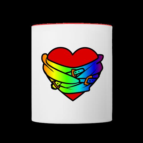 Heart Mug Red - Contrasting Mug