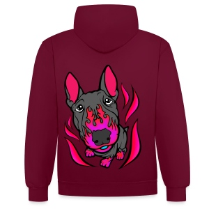 Contrast Colour Hoodie - Direct digital printing