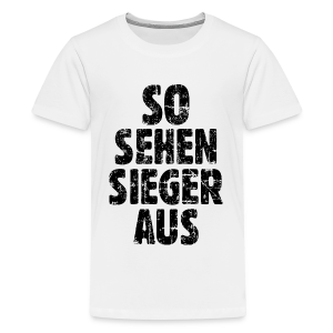 Sieger Teenager T-Shirt (Vintage/Schwarz) - Teenager Premium T-Shirt