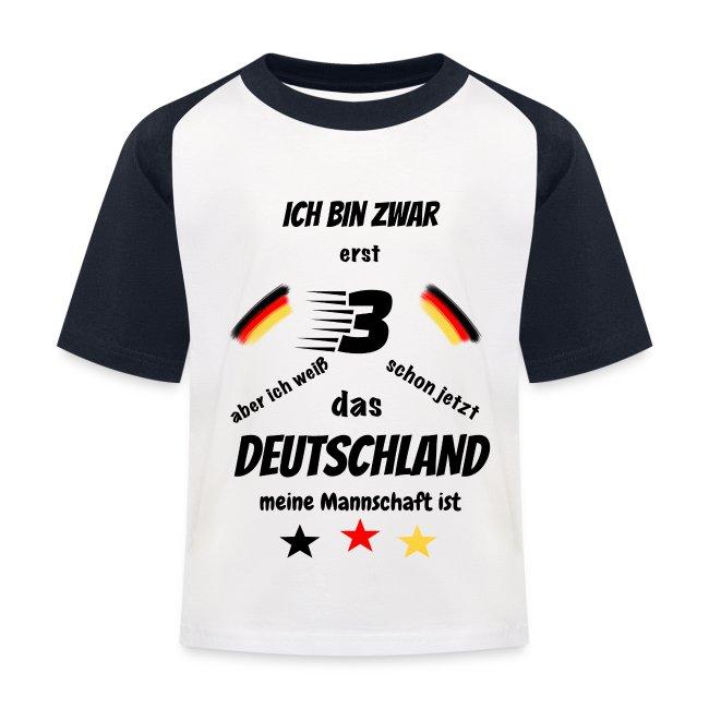 reputable site 3ccb0 a3b23 Kinder Fußball Shirt BW Erst 3 | Kinder Baseball T-Shirt