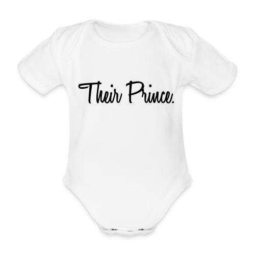Their prince - Organic Short-sleeved Baby Bodysuit