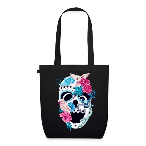 Floral Skull – Bio-Stoffbeutel - Bio-Stoffbeutel