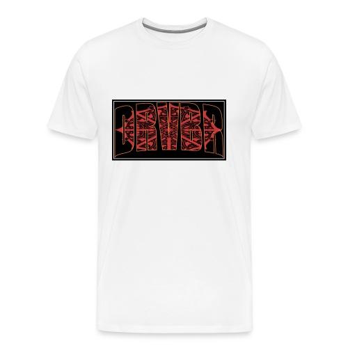 DRVBR Men's T-Shirt VORTEX White - Männer Premium T-Shirt