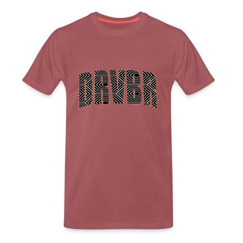 DRVBR Men's T-Shirt HEXAGONE Burgundy - Männer Premium T-Shirt