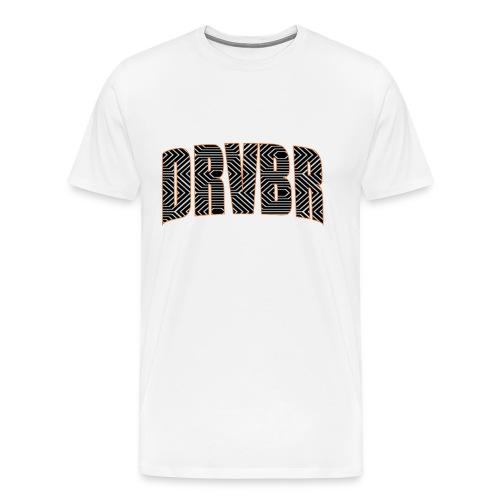 DRVBR Men's T-Shirt HEXAGONE White - Männer Premium T-Shirt