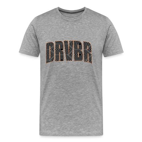 DRVBR Men's T-Shirt HEXAGONE Light Grey - Männer Premium T-Shirt